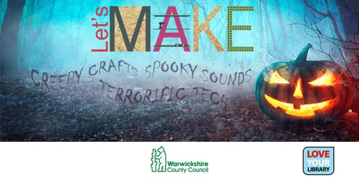 Spooky Let's Make Day at Rugby Library