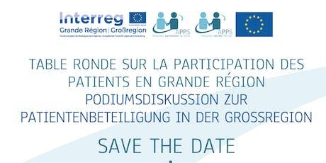 Podiumsdiskussion zur patienbeteiligung in der Grossregion Tickets