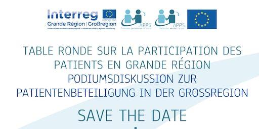 Podiumsdiskussion zur patienbeteiligung in der Grossregion