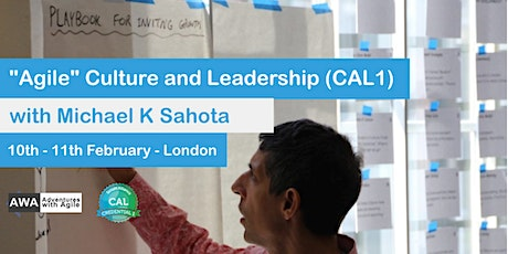 """Agile"" Culture and Leadership (CAL1) London with Michael K Sahota - February 2020 tickets"