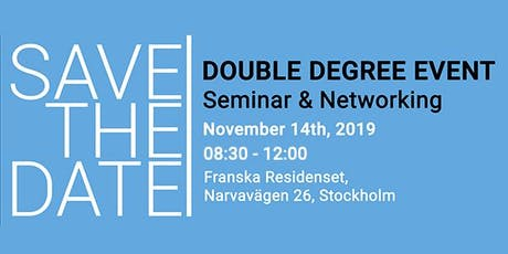 Double-degree event - Seminar & Networking tickets