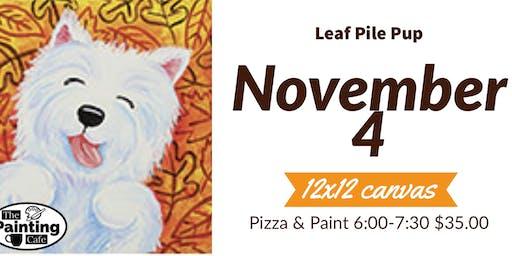 Paint Leaf Pile Pup