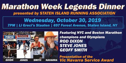 Marathon Week Legends Dinner presented by Staten Island Running Association