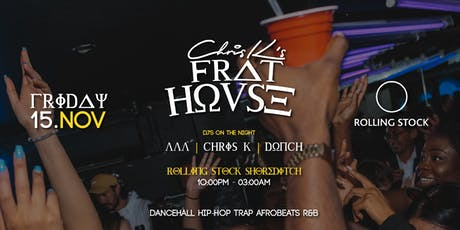 FRAT HOUSE - FREE JERK CHICKEN + FREE PIZZA tickets