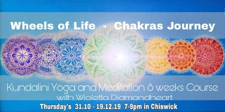 Wheels Of Life -  8 weeks Journey Through The Chakras - Whole Course tickets