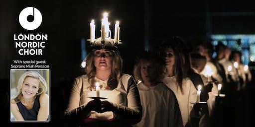 Lucia concert London Nordic Choir & Miah Persson