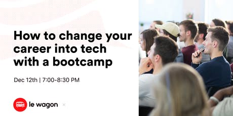 How to change your career into tech with a bootcamp tickets