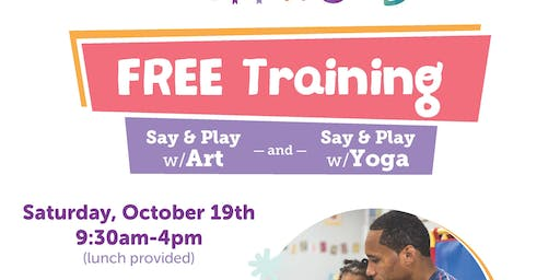 Say and Play with Words Professional Development - Art & Yoga - Oct 19