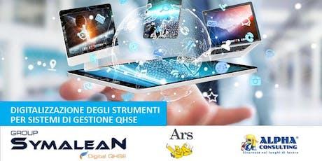 Digitalizzazione degli strumenti per sistemi di gestione QHSE biglietti