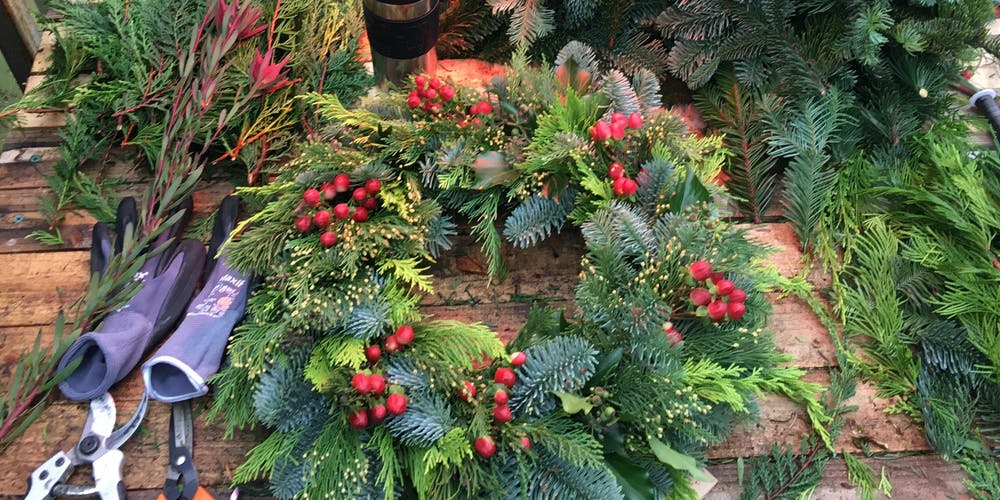 Evergreen Christmas.The Flowersmith Studio Christmas Wreath Workshop At Crawford And Co