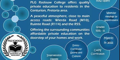 PLG Raslouw College - OPEN DAY 19 October 2019 9h00 - 12h00