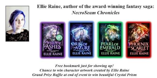 Meet award winning Fantasy author Ellie Raine.  Free bookmarks and prizes!