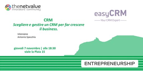 CRM: scegliere e gestire un CRM per far crescere il business. biglietti