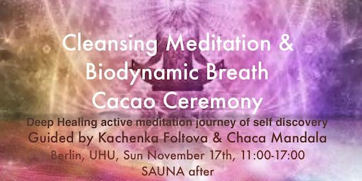 Cleansing Meditation & Biodynamic Breath Cacao Ceremony