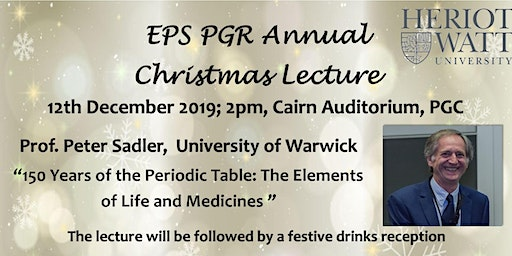 EPS PGR Annual Christmas Lecture