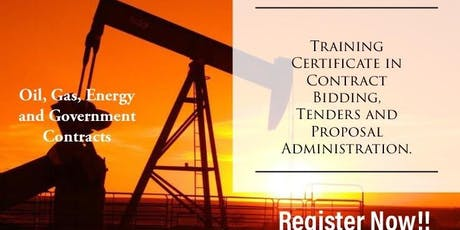Contract Bidding, Tenders and Proposal Administration Training tickets
