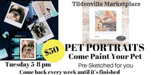 Pet Portraits Paint Party