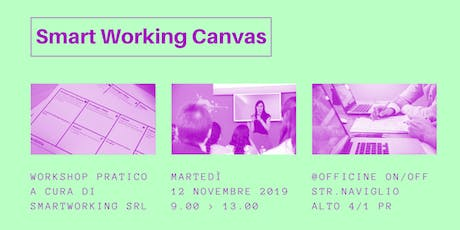 Smart Working Canvas | Workshop sul lavoro agile biglietti
