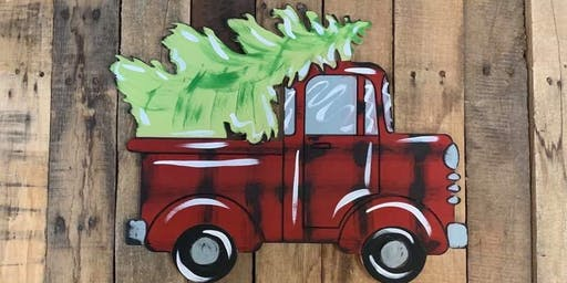 Let's Paint a Christmas Truck Door Hanger