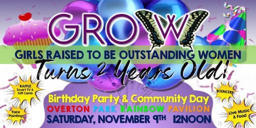 GROW's Birthday Party/Community Day
