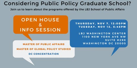 LBJ Washington Center Open House & Info Session tickets