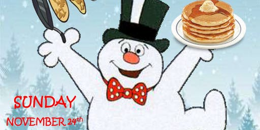 Pancakes with Maple the Snowman