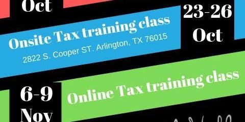 Onsite & Online Tax Preparation Training