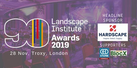 Landscape Institute Awards 2019 ceremony tickets