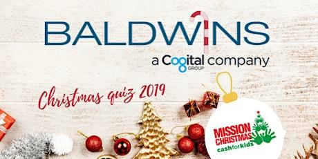 Baldwins Christmas Quiz 2019 tickets