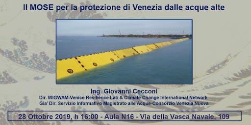 Il MOSE per la protezione di Venezia dalle acque alte