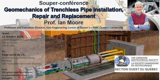 Soirée géotechnique : Geomechanics of Trenchless Pipe Installation