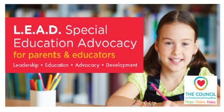 L.E.A.D. Special Education Advocacy for Parents & Educators tickets