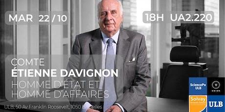 Comte Etienne Davignon | Homme d'affaires et Ministre d'État billets