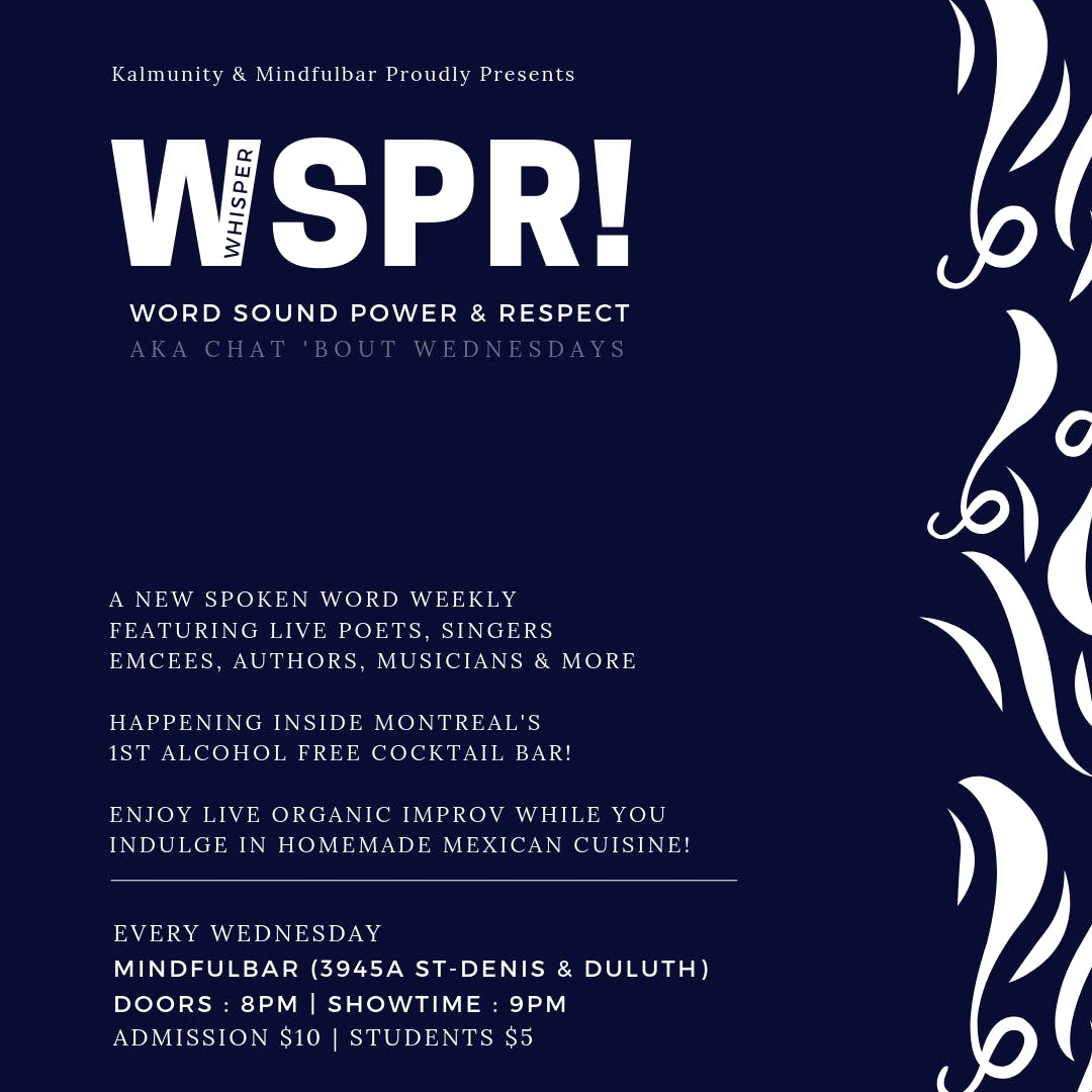 WSPR : Word Sound Power & Respect (Chat Bout Wednesdays)