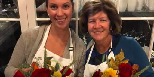 Thanksgiving Blooms at Paired, Poured and Plated with Alice's Table