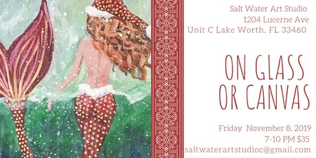 Mermaid on Canvas OR on a Wine/Beer Glass  tickets