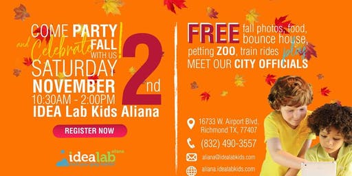 Idea Lab Kids Aliana GRAND Opening and Fall Festival
