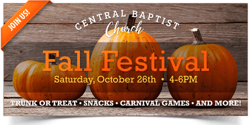 Annual Fall Festival/Trunk-or-Treat