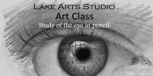 Art Class, 'Study of the Eye' in Pencil