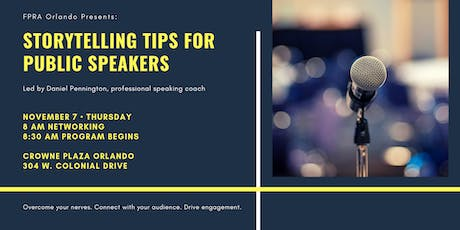 Storytelling Tips for Public Speakers tickets