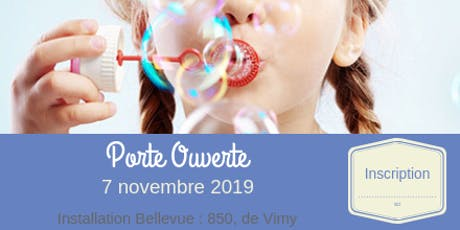 Porte Ouverte : installation Bellevue // novembre billets