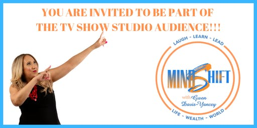 TV Show Studio Audience for Mindshift with Gwen Davis-Yancey