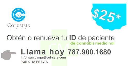 Certificación paciente cannabis medicinal