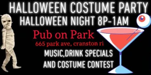 Pub on Park 21+ HALLOWEEN COSTUME PARTY