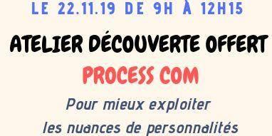 """Atelier découverte OFFERT - """"PROCESS COM"""""""