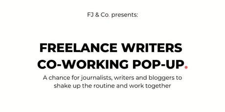 Freelance writers co-working pop-up billets