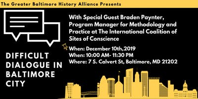 Greater Baltimore History Alliance's Annual Member Meeting