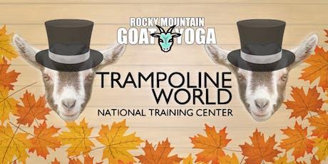 Goat Yoga - November 17th (Trampoline World Gymnastics) tickets