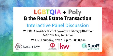 LGBTQIA + Poly And The Real Estate Transaction: What Do You Need to Know? tickets