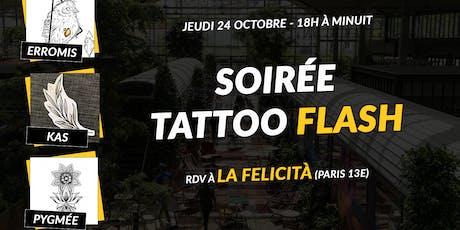 Soirée Tattoo Flash à La Felicità billets